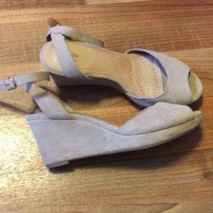 Clark's Artisan wedge sandals size US 8